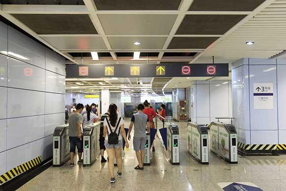 重庆轻轨3号线出站口