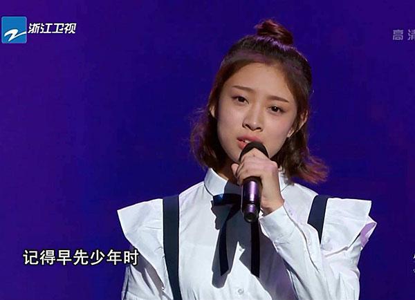 好声音学员叶炫清演唱《从前慢》