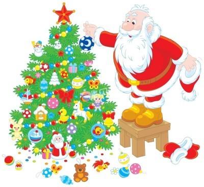 圣诞老人和圣诞树