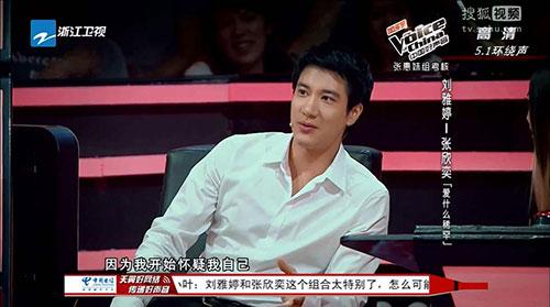 王力宏曾经在中国好声音当过张惠妹组梦想导师