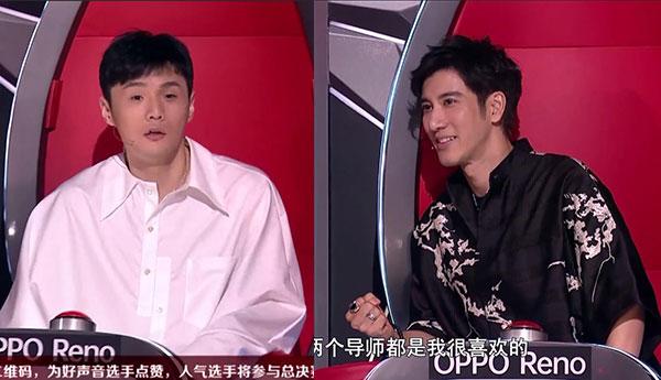 2019《中国好声音》导师李荣浩和王力宏对比图