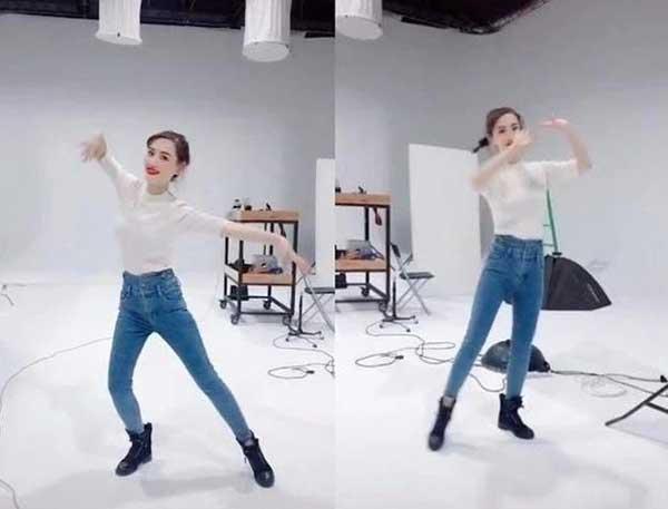 马蓉在抖音上跳《萨日郎》