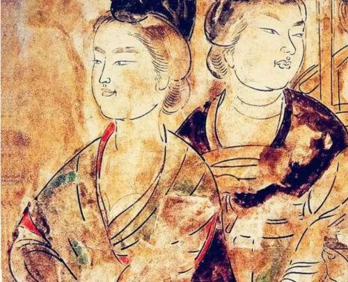 永泰公主墓壁画《九人宫女图》