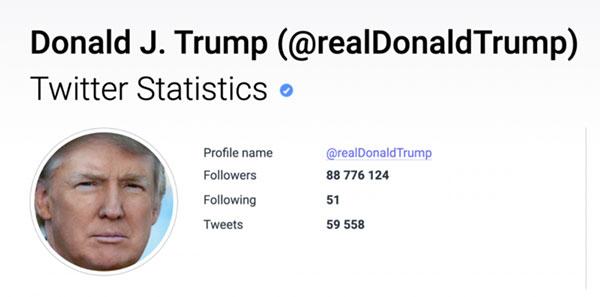 推特宣布永久移除特朗普账号