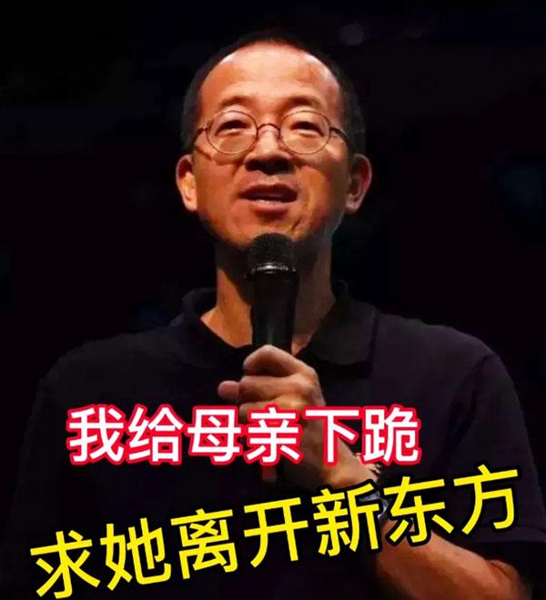俞敏洪给母亲下跪,阐释家族式营业的公司规则