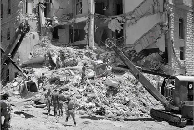 爆炸后的大卫王酒店