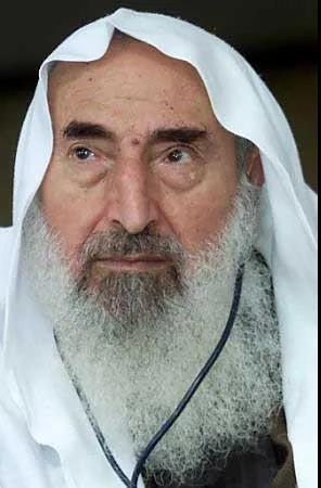 这个有点像《魔戒》里萨鲁曼的人,就是哈马斯当年的精神领袖亚辛,后来被以色列用导弹炸死了
