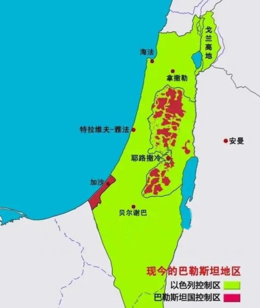巴勒斯坦国地图