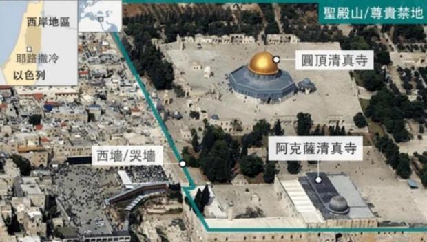 现在那里已经盖了阿克萨清真寺,只给犹太人留下一段哭墙