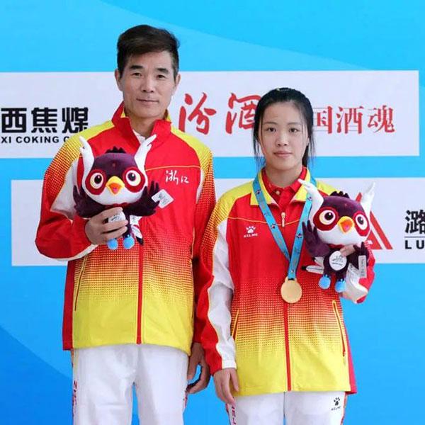 杨倩也是虞利华教练的得意门生之一