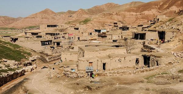 阿富汗农村居住区取景