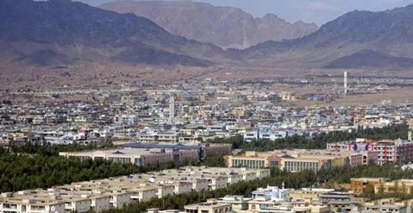 阿富汗国际机场附近的近景