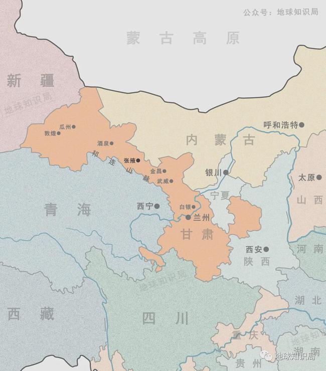 """张掖是""""甘""""的来源,酒泉(肃州)则是""""肃""""的来源"""