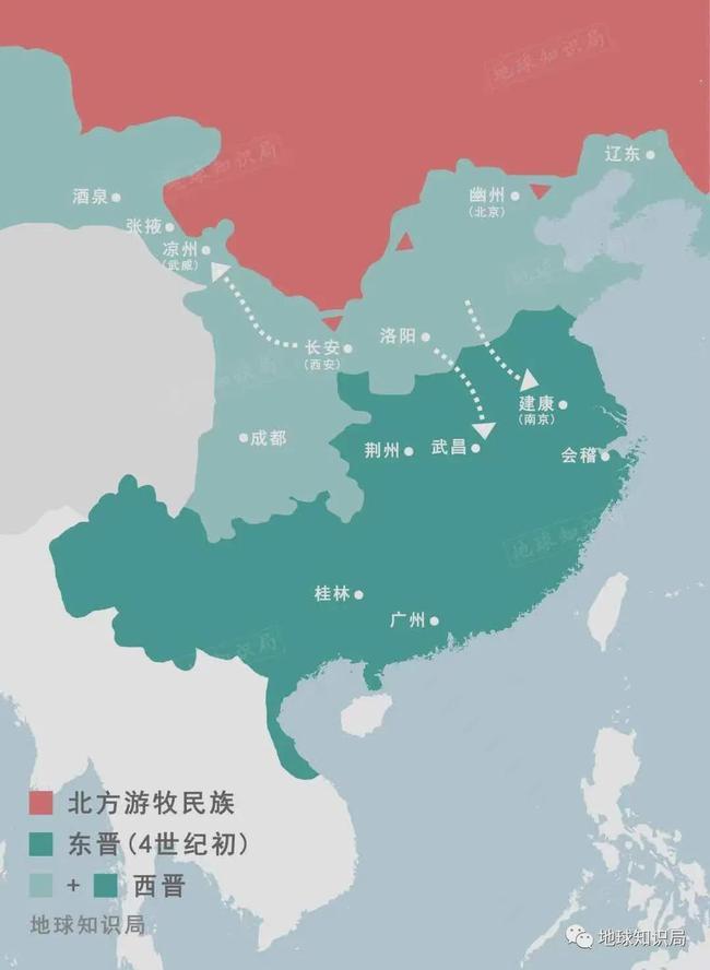 张轨经营的河西前凉政权境内,农耕、畜牧与商贸发达,是躲避战乱的理想之地。